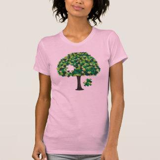 Rompecabezas del árbol de familia camiseta
