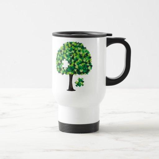 Rompecabezas del árbol de familia taza
