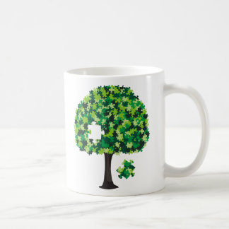 Rompecabezas del árbol de familia taza de café