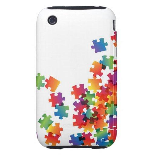 Rompecabezas del arco iris del caso del iPhone 3 iPhone 3 Tough Protectores