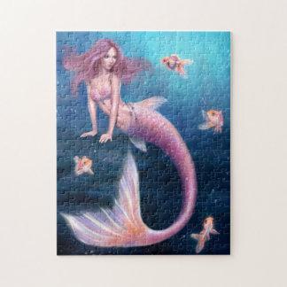 Rompecabezas del arte de la sirena del Goldfish de