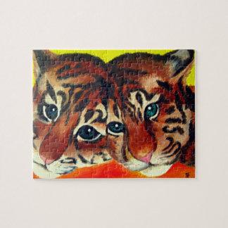 Rompecabezas del arte de los cachorros de tigre