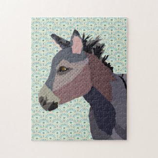 Rompecabezas del arte del burro del gris