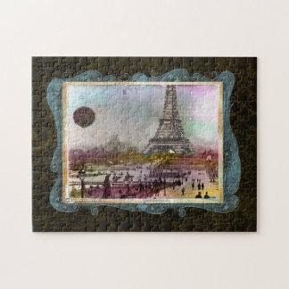 Rompecabezas del arte del collage de París de la t