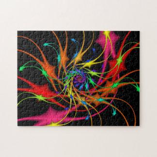 Rompecabezas del arte del fractal de los fuegos