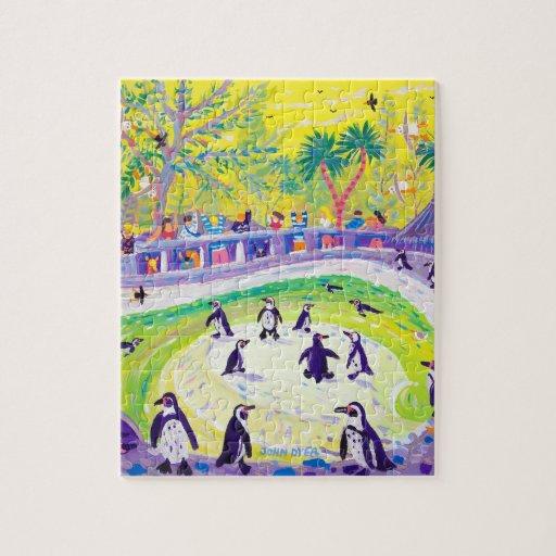 Rompecabezas del arte: Pingüinos por el tintóreo d