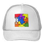 Rompecabezas del autismo gorras de camionero
