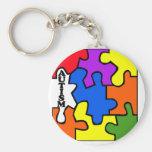 Rompecabezas del autismo llavero