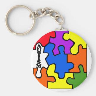 Rompecabezas del autismo llavero redondo tipo pin