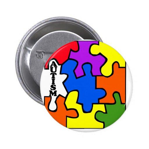 Rompecabezas del autismo pin redondo 5 cm