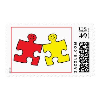 Rompecabezas del autismo sellos