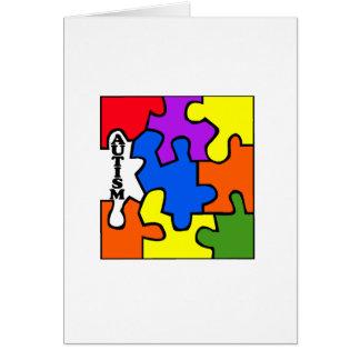 Rompecabezas del autismo felicitación