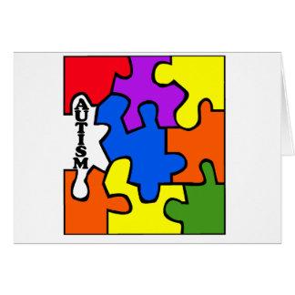 Rompecabezas del autismo tarjetas