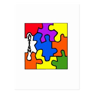 Rompecabezas del autismo postal