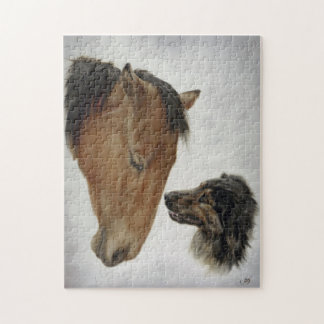 Rompecabezas del caballo y del perro