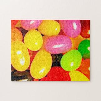 Rompecabezas del caramelo de las habas de jalea