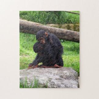Rompecabezas del chimpancé del bebé