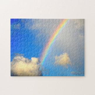 Rompecabezas del cielo, del arco iris y de las nub