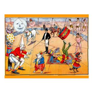 Rompecabezas del circo - postal