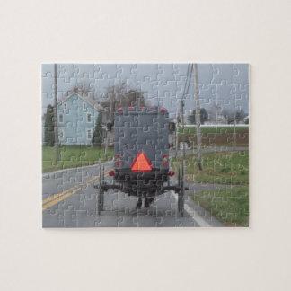 Rompecabezas del cochecillo de Amish