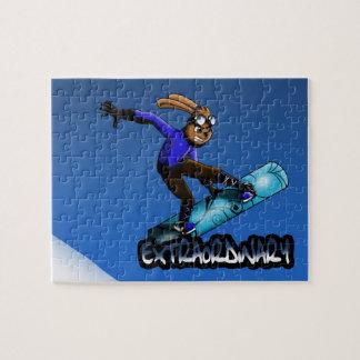 Rompecabezas del conejo de la snowboard