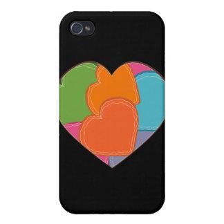 Rompecabezas del corazón iPhone 4 funda