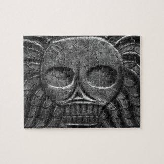 Rompecabezas del cráneo de la lápida mortuaria