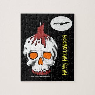 Rompecabezas del cráneo del feliz Halloween