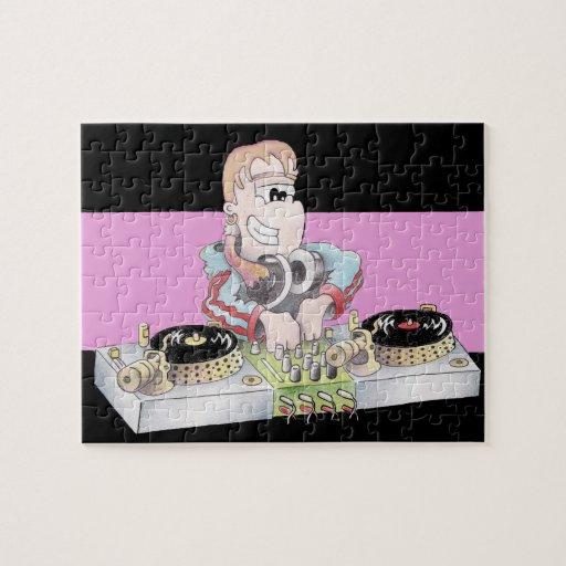 Rompecabezas del dibujo animado de DJ del CHICA