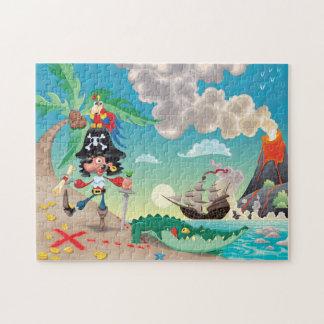 Rompecabezas del dibujo animado del pirata