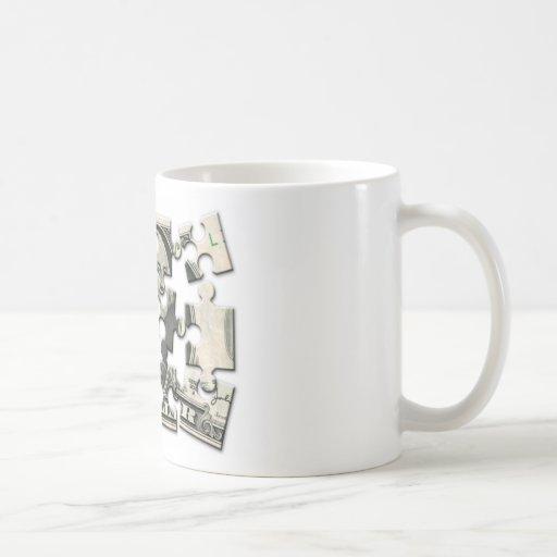 Rompecabezas del dólar tazas de café