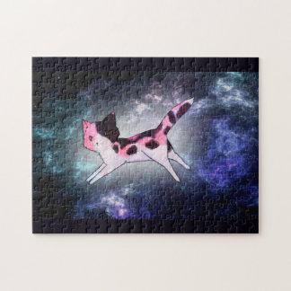 Rompecabezas del gato del espacio