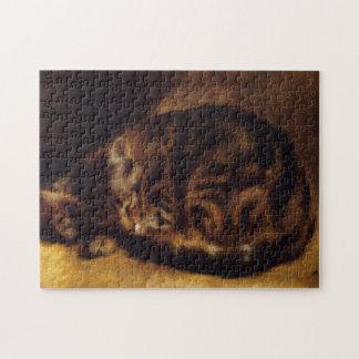 Rompecabezas del gato el dormir de Renoir