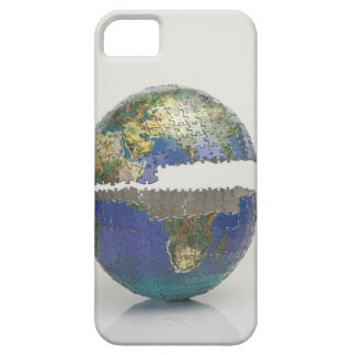 Rompecabezas del globo funda para iPhone 5 barely there