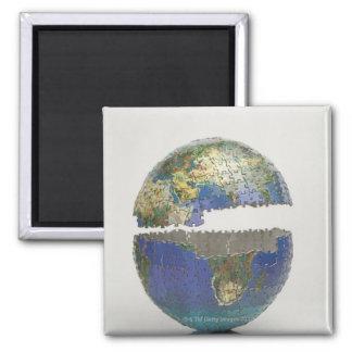 Rompecabezas del globo imán cuadrado