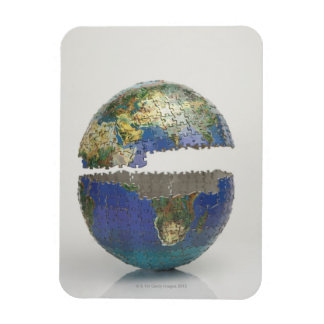Rompecabezas del globo imanes de vinilo