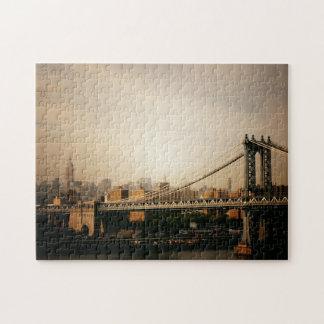 Rompecabezas del horizonte de New York City - puen