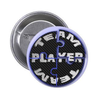 Rompecabezas del jugador de equipo pin redondo de 2 pulgadas