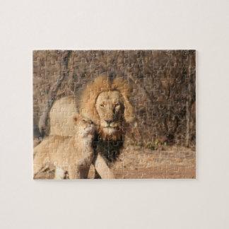 Rompecabezas del león y de Cub de león
