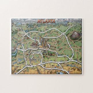 Rompecabezas del mapa del dibujo animado de Atlant