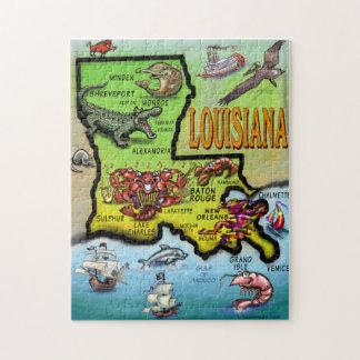 Rompecabezas del mapa del dibujo animado de Luisia