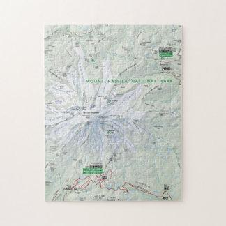Rompecabezas del mapa del Monte Rainier