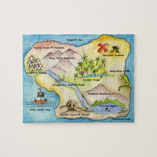 Rompecabezas del mapa del pirata