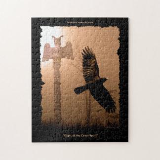 Rompecabezas del nativo americano del cuervo y del