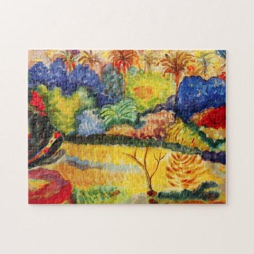 Rompecabezas del paisaje de Gauguin Tahitian