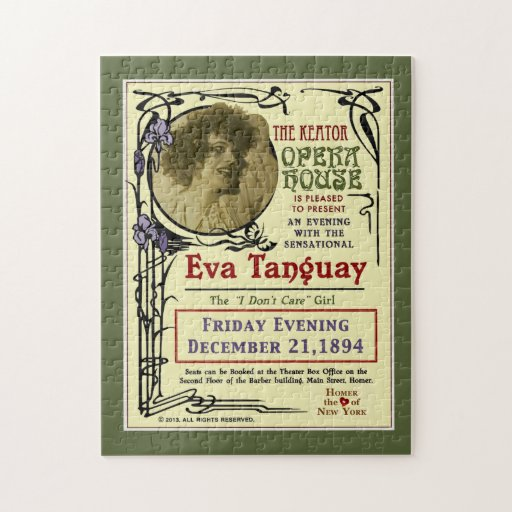 Rompecabezas del poster de Nouveau del arte de Eva