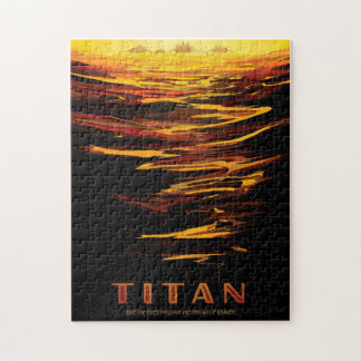 Rompecabezas del poster del viaje del titán
