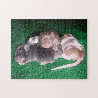 Rompecabezas del ratón:  4 ratones del bebé