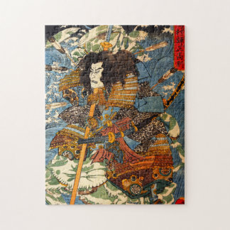 Rompecabezas del samurai de Kuniyoshi