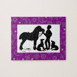 Rompecabezas del vaquero y del caballo